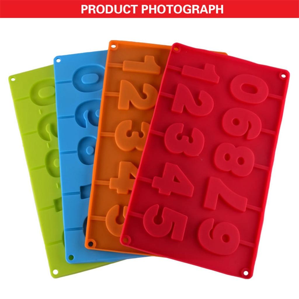 Molde para paletas de silicona, molde para hornear Chocolate helado, herramienta para hornear, accesorios de herramientas de cocina en forma de número 0-9 #30