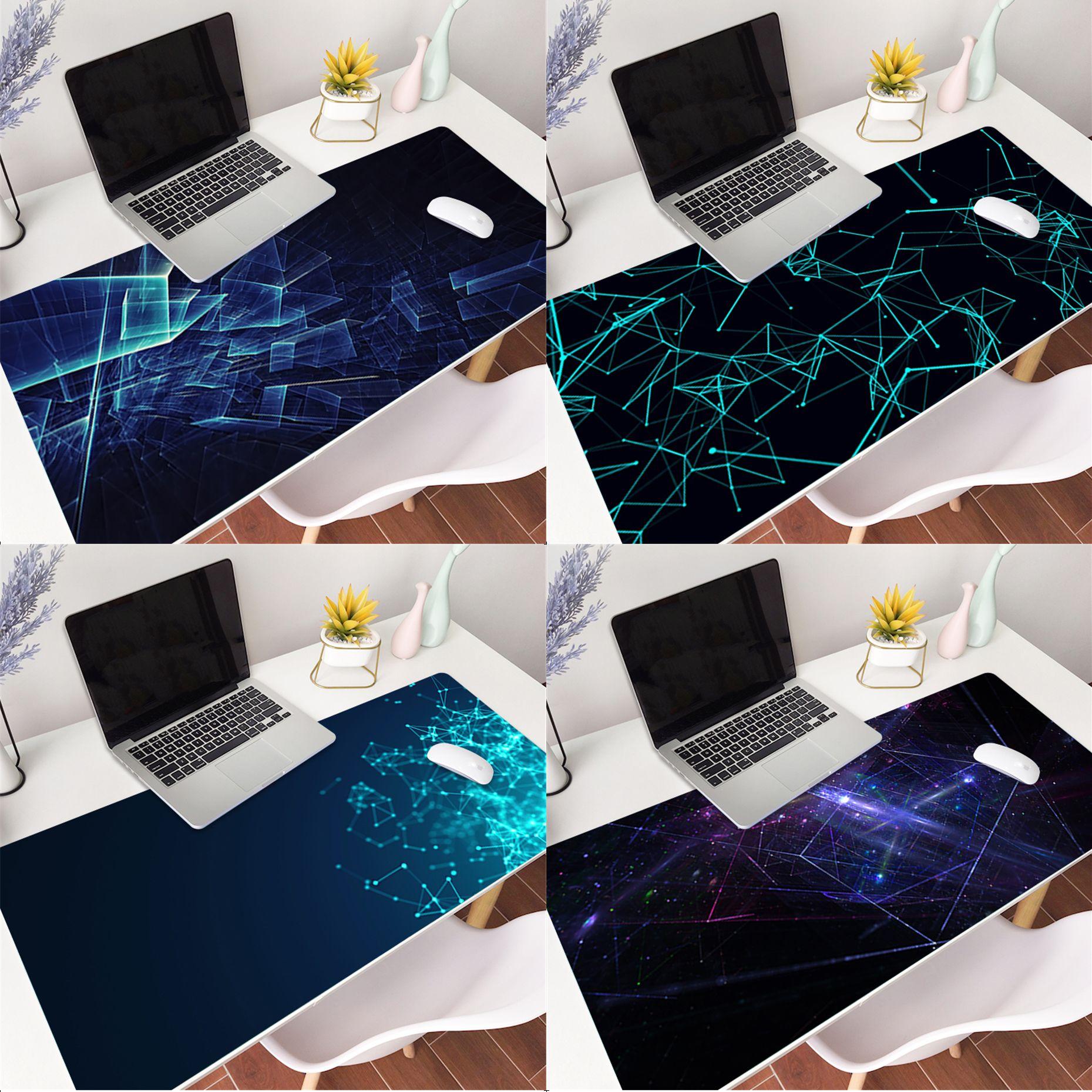 Абстрактные футуристические обои, лидер продаж, прочный резиновый коврик для мыши, Размер коврика для 300x700x2 мм