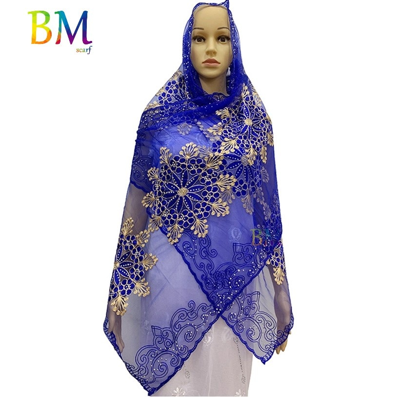 AliExpress - African women scarf muslim women scarf 200*50cm small net scarf for shawls BX08