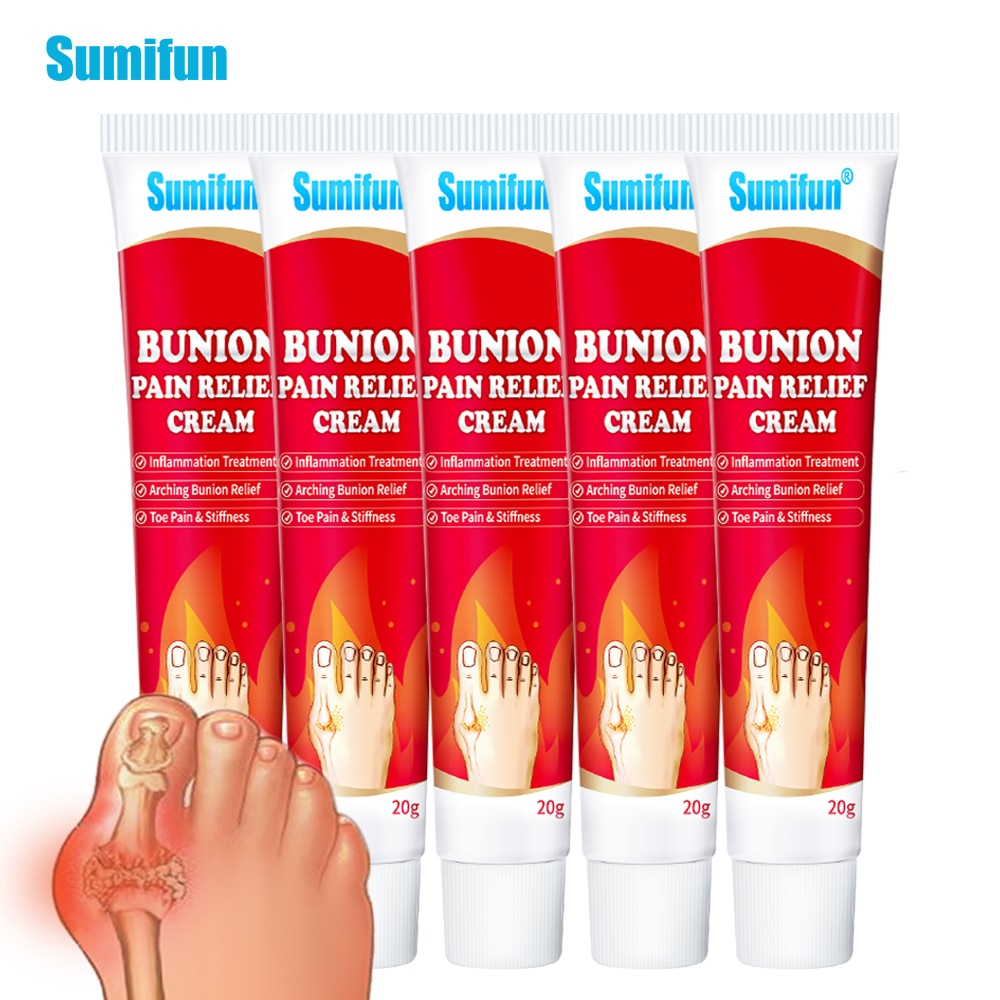 5pcs Bunion Pain Relief Cream Joint Toe Stiffness Inflammation Treatment Arching Ointment 20g