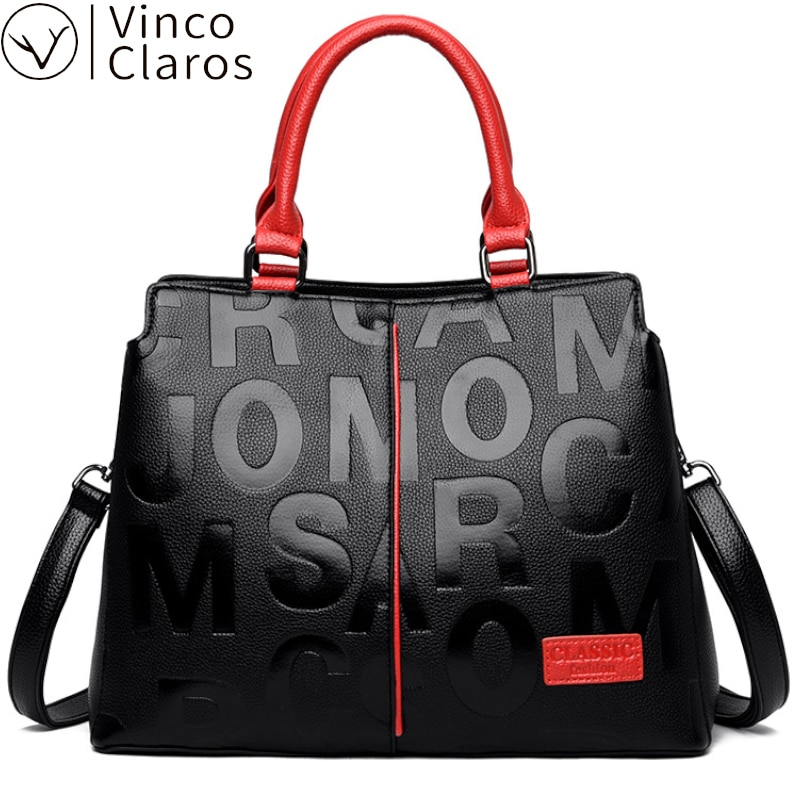 Letter Printing Handbags for Women 2020 Designer Luxury High Quality Leather Hand Bags for Women Fashion Shoulder Crossbody Bag