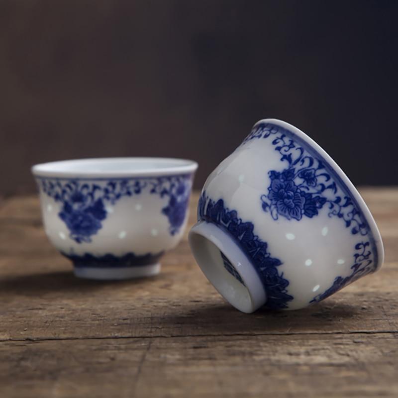 Jingdezhen Tazas De Té De Porcelana Blanca Y Azul Taza De Té China Vintage Tazón De Té De Cerámica Sake 2 Unidades Por Lote 120ml Tazas Y Platillos Aliexpress