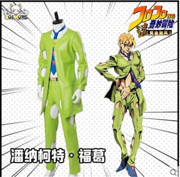 JoJos BIZARRE ADVENTURE Goldenwind pannacota Fugo verde traje Halloween Navidad cosplay traje uniforme