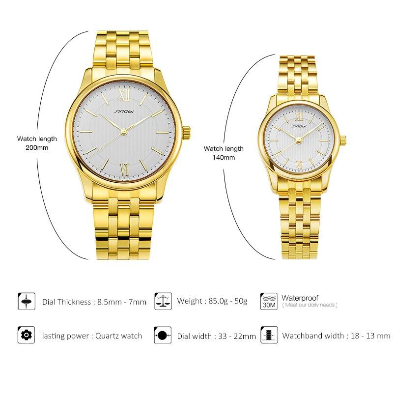 New SINOBI Golden Watch Women Watches Ladies Creative Steel Women's Bracelet Watches Female Clock Relogio Feminino Montre Femme enlarge