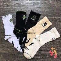ader error socks alien ufo embroidered high quality cotton sports socks korean adererror mens womens ins trendy tube socks