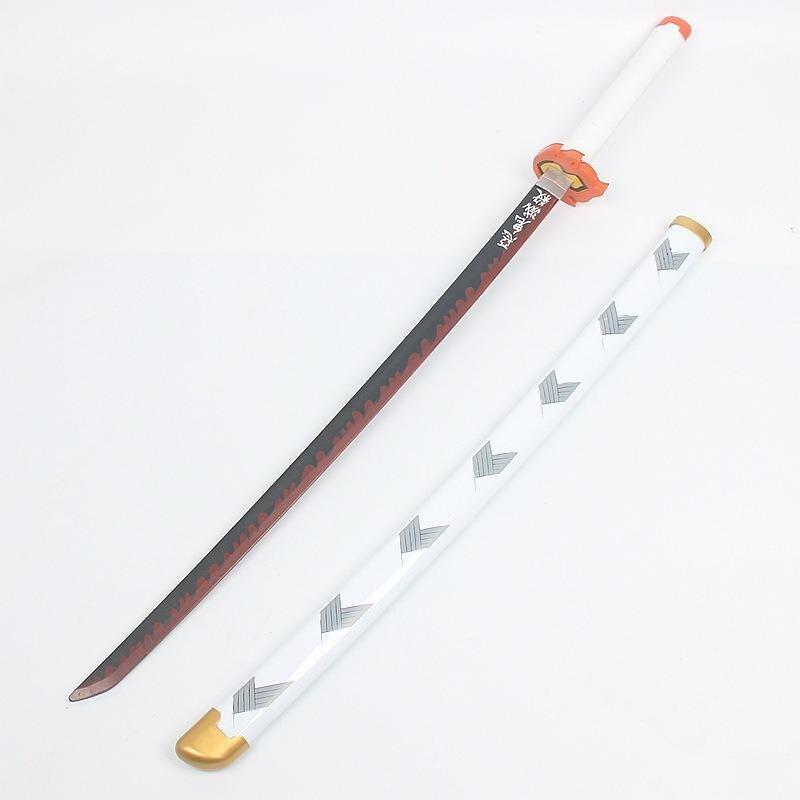 Espada de madera del diablo, arma, demonio asesino, Cosplay Rengoku Kyoujurou, Espada samurái Katana, cuchillo Ninja, accesorio, juguete adolescente