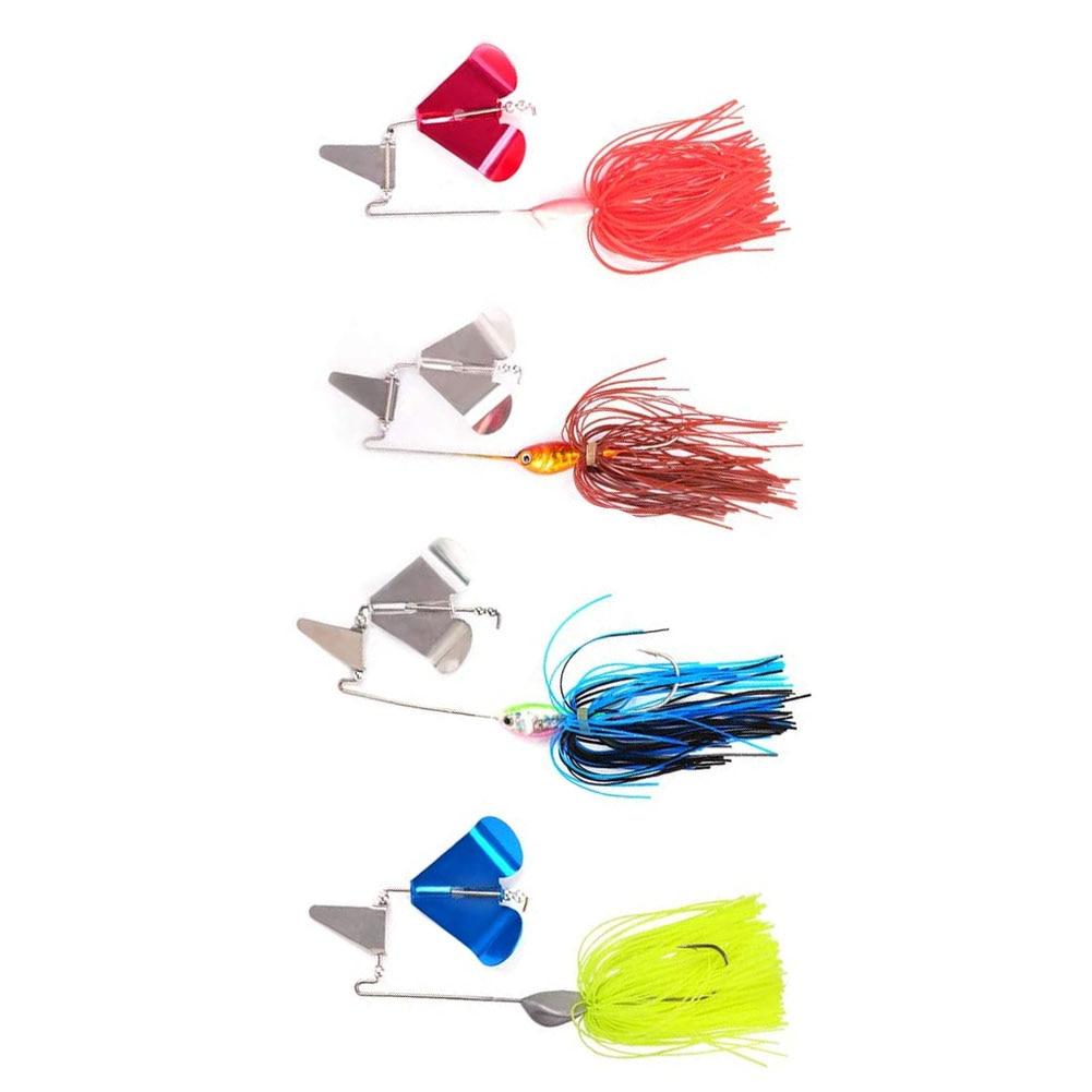 Fishing Lure Spinnerbait Topwater Fishing Lures Spinnerbait Kits Hard Metal Lure For Freshwater Saltwater 4PCS Lure Spinnerbait