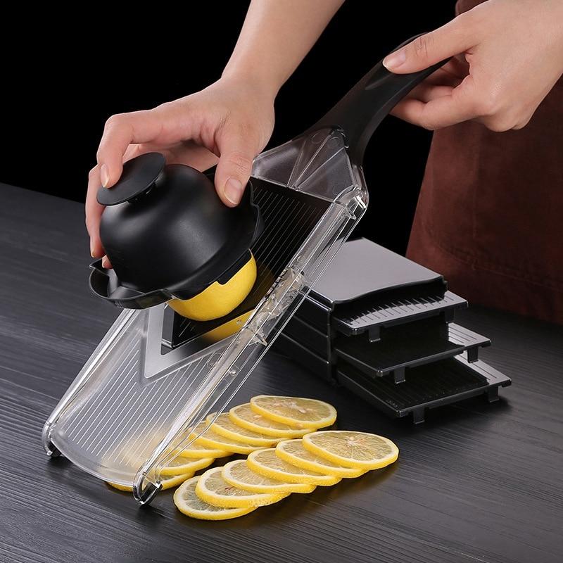 Ssgp handheld espessura ajustável vegetal v slicer ralador de salada utensílio, perfeito para salada e todos os vegetais-preto