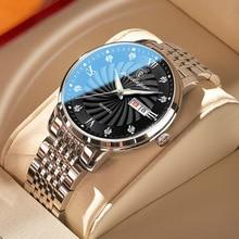 POEDAGAR 2021 New Men Ultra-Thin Watches Fashion Week Calender Business Cool Waterproof Luxury Stain