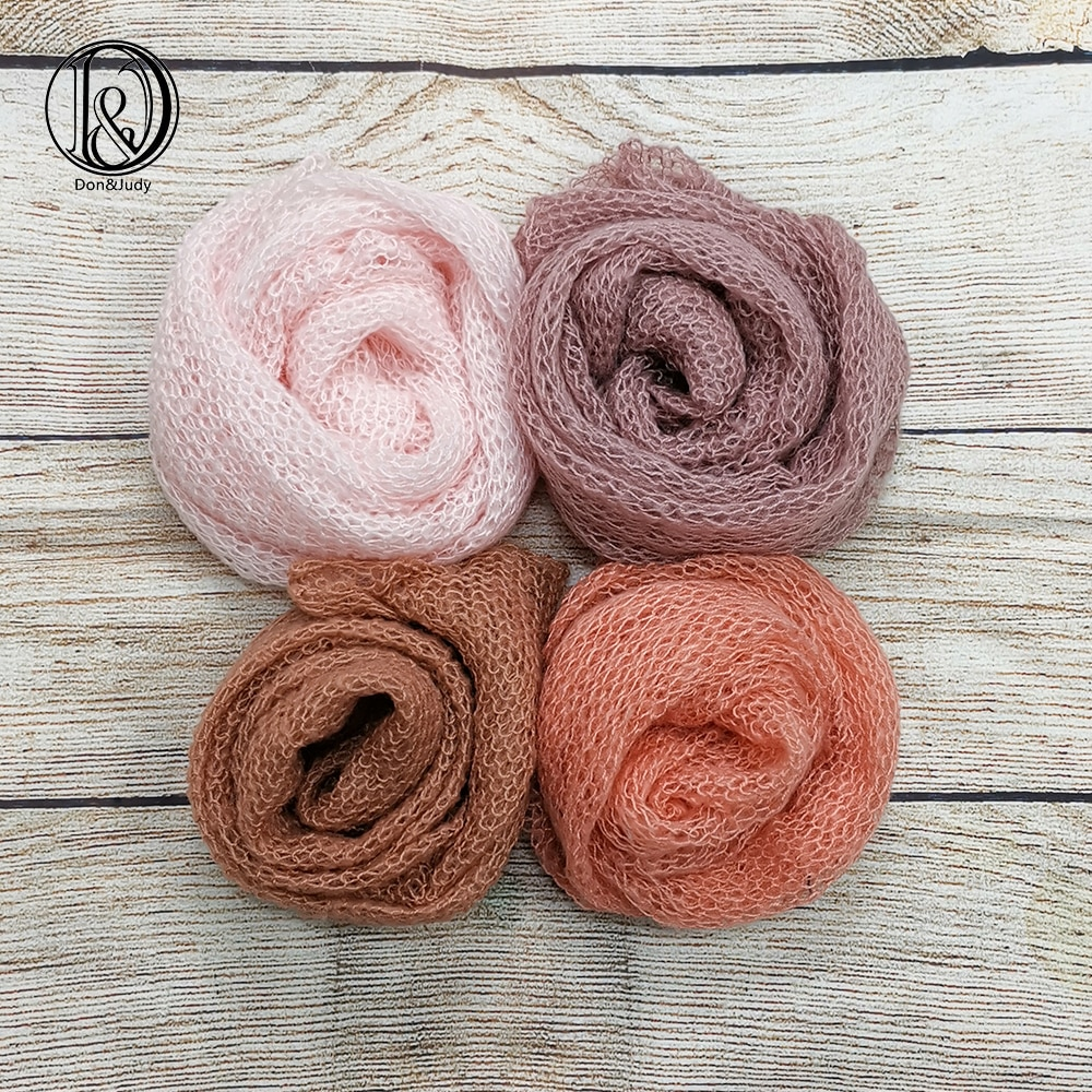 Don&Judy 3/4pcs Pack Stretch Mohair Wrap Newborn Photography Props Baby Photo Shoot Accessories Photograph For Studio fotografia newborn photography props mohair knit wraps backdrops set stretchy blanket for baby photo shoot accessories fotografia acessorio