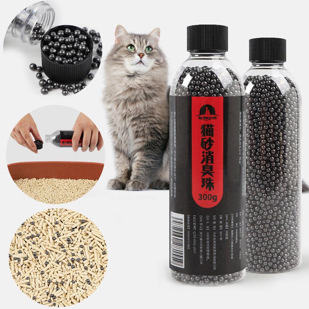 Cuentas desodorantes para residuos de gatos, absorbe el olor de carbón activado