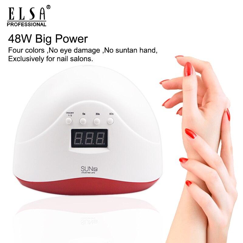 Nuevo Producto, secador de uñas de Gel colorido SUN 1s 48 W, lámpara de uñas LED UV para esmalte de uñas, luz led para uñas, secador de uñas, lámpara UV