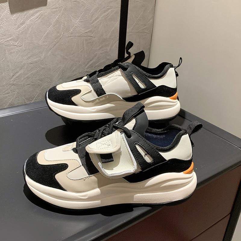 Zapatillas De deporte gruesas De diseñador para Mujer, zapatos informales a la...