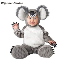 Maravilha jardim nova criança bebê recém-nascido menino bonito koala traje halloween vestir-se traje outfit