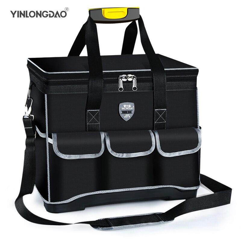 Yinongبتصميم متعدد الوظائف أداة حقيبة 1680D أكسفورد القماش كهربائي حقيبة ، متعددة جيب مقاوم للماء مكافحة سقوط حقيبة التخزين