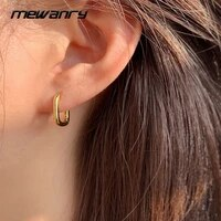 mewanry 925 sterling silver hoop earrings for women trend elegant simple circle ear buckle party jewelry birthday gift wholesale