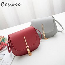 Women Shoulder Bags PU Leather Fashion Tassel Crossbody Bag Small Flap Messenger Bag for Ladies Slin