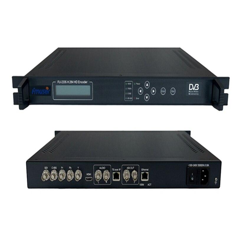 FMUSER FU-2205 Encoder HD H.264/AVC MPEG-4 SDI YPbPr CVBS/AUDIO y ASI a IP