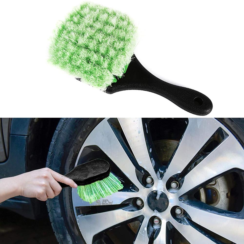 Портативная щетка для мойки автомобильных колес из микрофибры, мойка автомобильных колес с пластиковой ручкой, инструменты для очистки авт...