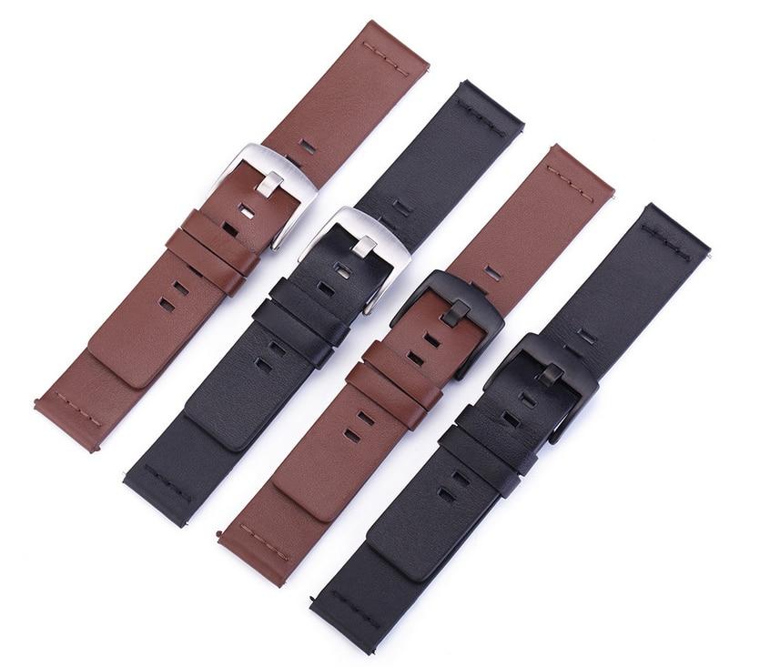 Atacado Lote Cow Genuine Leather Assista Banda Bracelete 5 Cores Disponíveis 18mm 20mm 22mm 24mm Tamanho 10 Pçs –