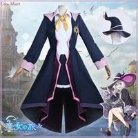 anime wandering witch the journey of elaina cosplay costume fashion uniform full set female role play clothing xs xl