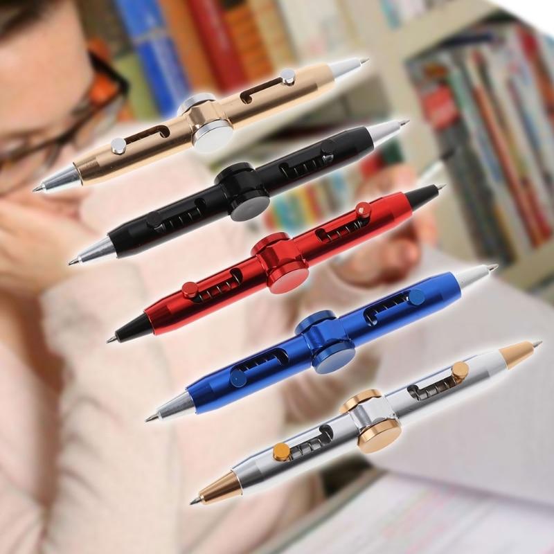 Novelty Fidget Spinner Metal Pen Anti Stress Pen Toys Ballpoint Pen Kids Student enlarge