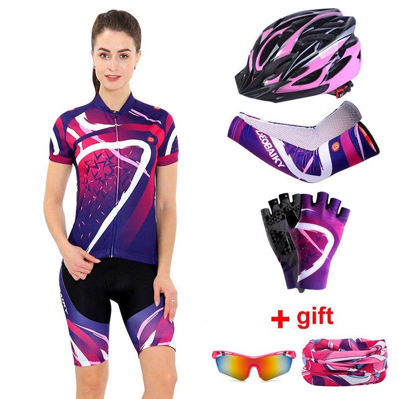 Женский комплект одежды для велоспорта, лето 2020, профессиональная команда, MTB, велосипедная одежда, дамские велосипедные Джерси, наборы, ант...