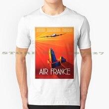 Cartel Vintage-Camiseta de Moda Africana Occidental Francesa, camisetas Vintage, publicidad, turismo Retro, viajes por aire