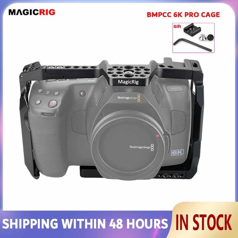 MAGICRIG Full Cage With ARRI Locating Hole & Cold Shoe for Blackmagic Design Pocket Cinema Camera 6K Pro(Bmpcc 6k Pro)