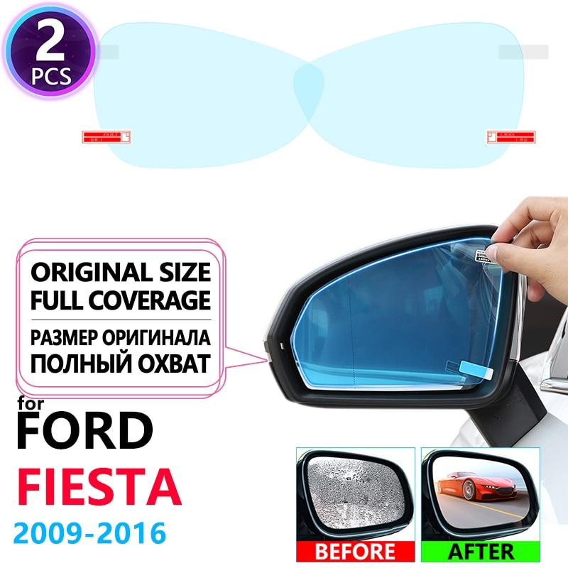 Cubierta completa Anti niebla película impermeable espejo retrovisor para Ford Fiesta MK7 ST 2009 ST 2016 pegatinas de coche accesorios 2010 2013 2014 2015