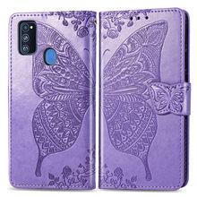 Coque papillon pour Samsung Galaxy M31 M21 M30s housse de protection en cuir pour Samsung Galaxy M20 M30 M10 Funda