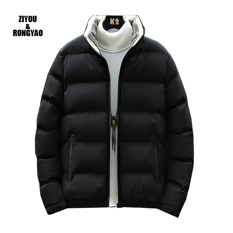 Winter Jacket Men Thick Warm Duck Down Jacket Men Parka Casual High Quality Mens Overcoat Winter Down Coats Men cotton-padded