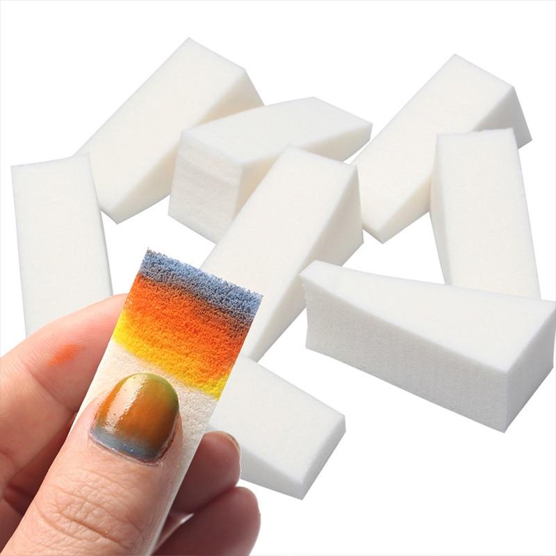 Фото - 8/16 Pcs Nail Art Gradient Color Stamping Sponge Triangle Nail Art Transfer Sponge Nail DIY Coloring Tools Painting Stamper gradient art