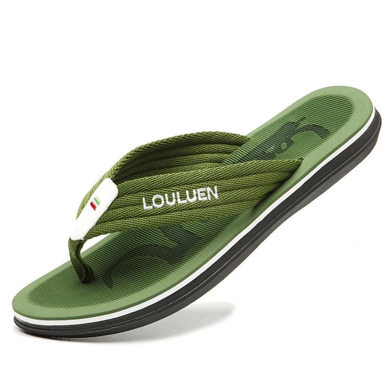 AliExpress - Summer Simple Striped Non-Slip Design Flip Flops Male Korean Version Of Soft Massage Casual Slippers Milk Sores Beach Sandals