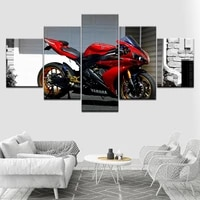 canvas wall art hd printed poster modular frame modern motorcycle picture 5 pieces racemotor painting home decor for living room