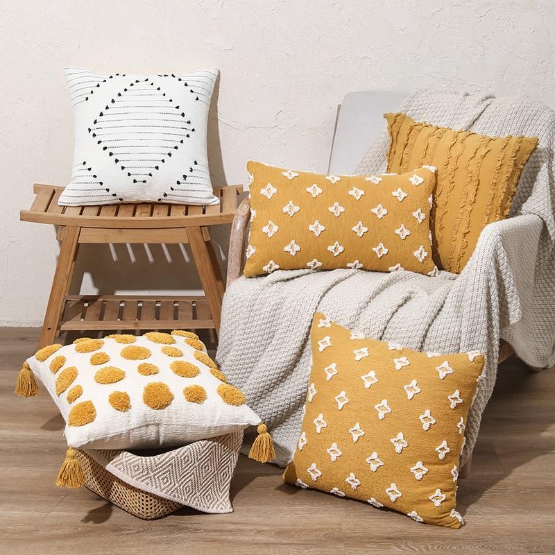 45x45 سنتيمتر الفاخرة موجة غطاء الوسادة أريكة الزخرفية وسادة يغطي للمنزل الديكور الوسائد ديكور الخريف ديكورات