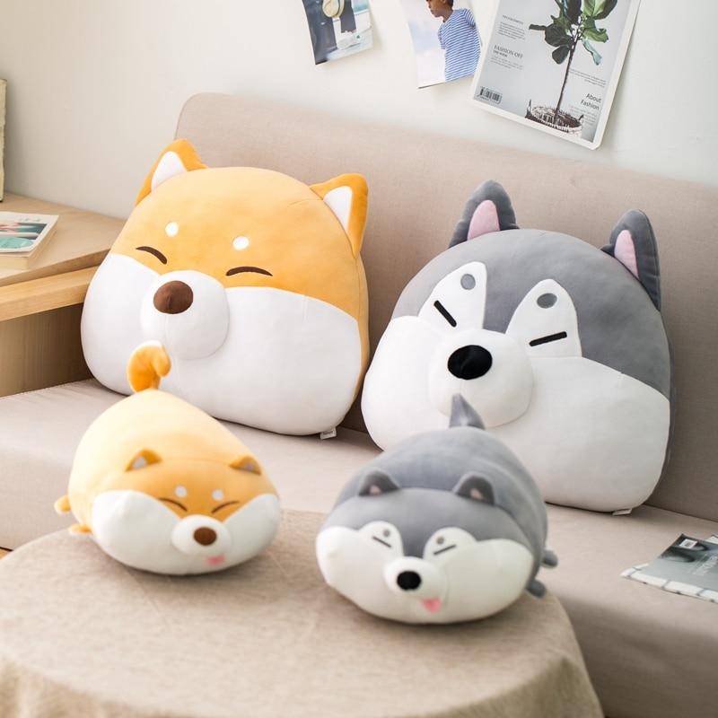 Recién llegado de peluche de perro Huggable Shiba Inu, almohada de siesta...