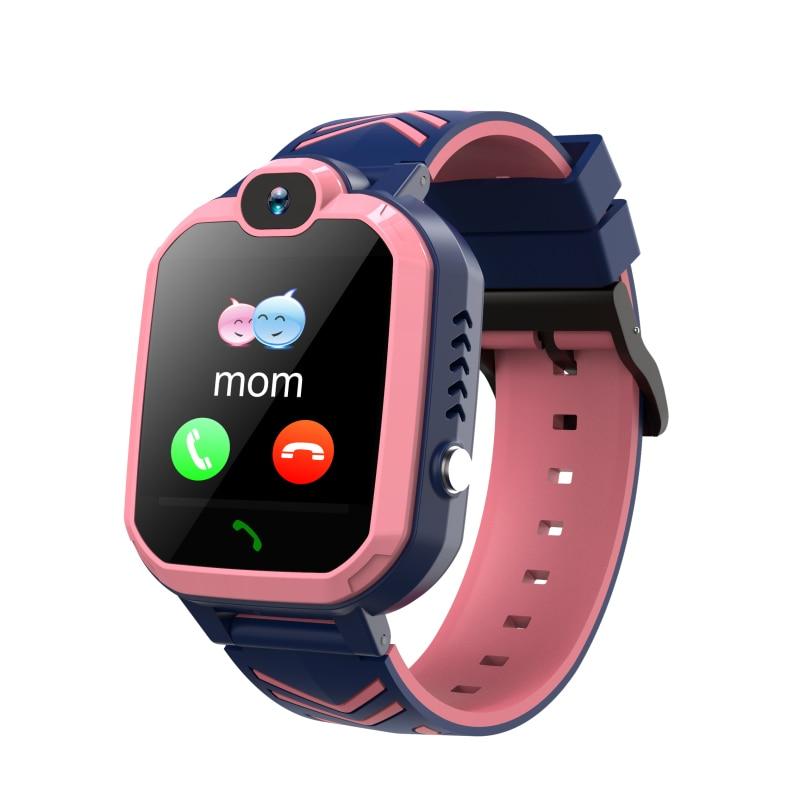 الأطفال ساعة ذكية مقاوم للماء 1.44 بوصة طالب سوار ذكي MP3 الطلب دعوة صوت الدردشة لعبة بنين بنات هدية معصمه