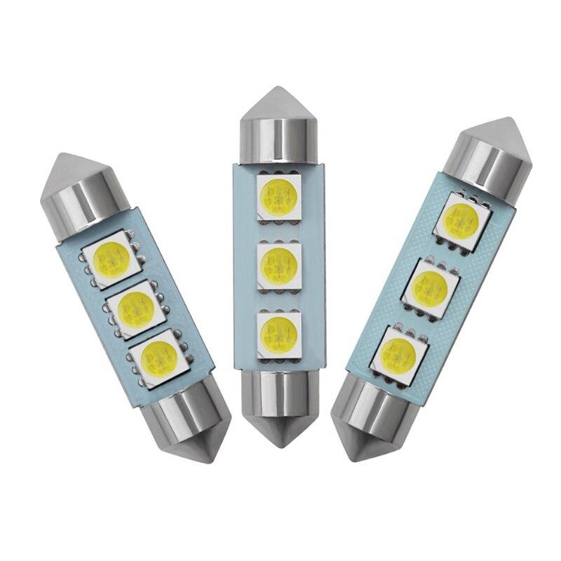 Бесплатная доставка 100 шт. гирлянда 31 мм 36 мм/39 мм/41 мм автомобиля светодиодный светильник 3SMD 5050 светодиодный гирлянда c5w 3SMD чтения светодиод...
