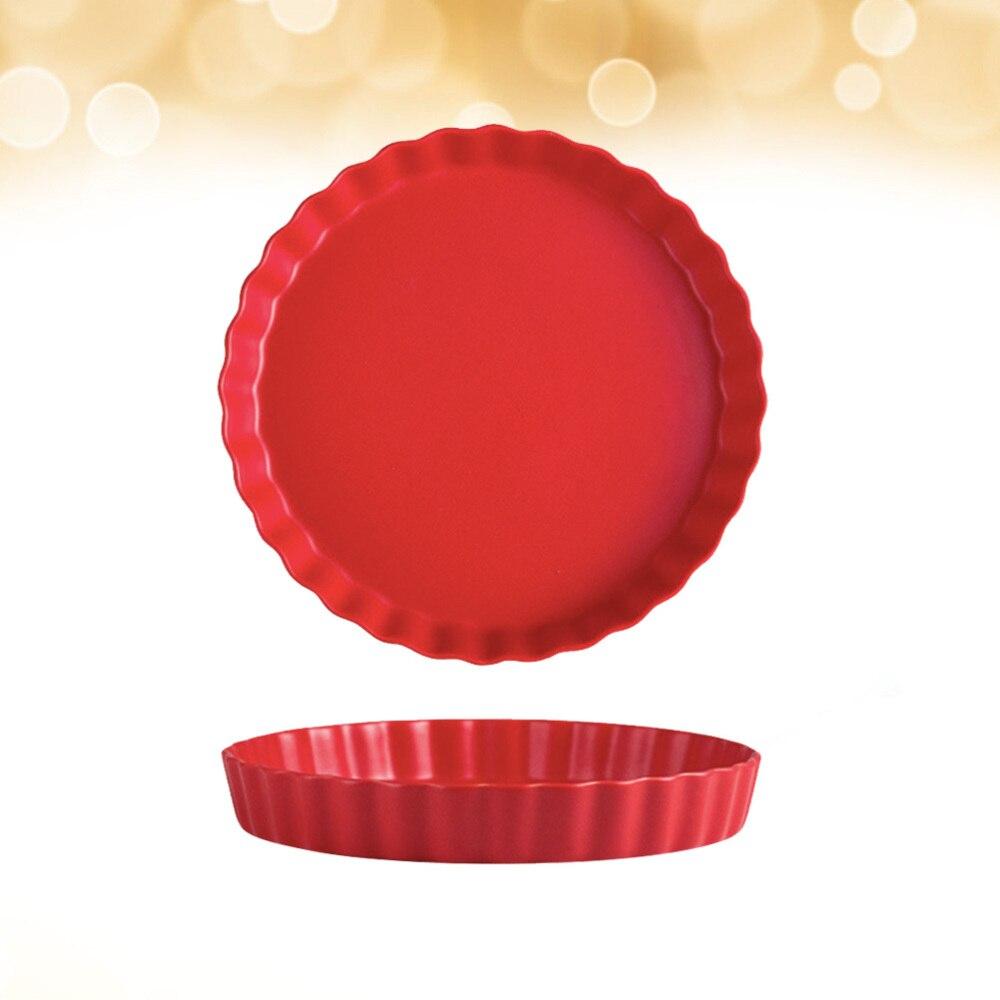 طبق سوشي بسيط الإبداعية السيراميك الإفطار طبق شيك إيطاليا الشعرية لوحة أدوات المائدة المنزلية لمطعم المنزل (أحمر)
