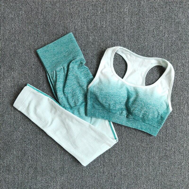 Conjunto de Yoga sin costuras, entrenamiento, gimnasio, conjunto deportivo para mujer, ropa atlética
