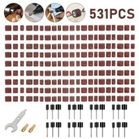 531 pieces drum sander set including 360 pieces nail sanding band sleeves and 24 pieces drum mandrels for rotary tool