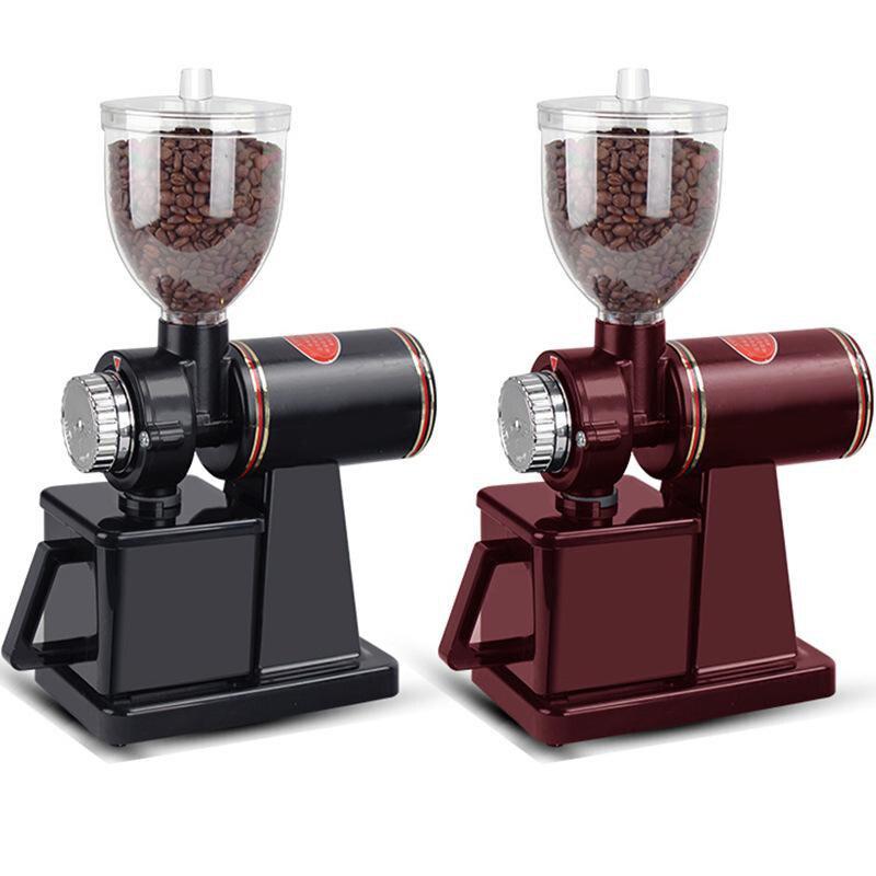 مطحنة قهوة سوداء ، 110 فولت و 220 فولت إلى 240 فولت ، مع محول قابس