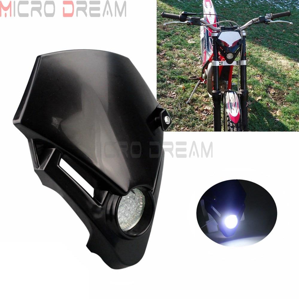 Supermoto-faro delantero Dirt Bike LED, iluminación de prueba, versión para Honda Gas...