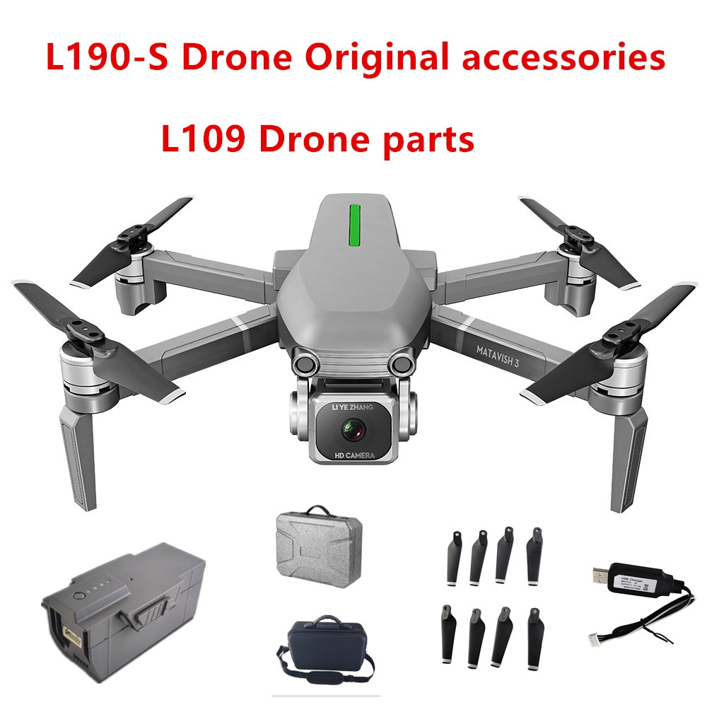 L109 Drone Parts And L109-s 4k GPS Drone Accessories 11.1V 1600 MAH Battery/USB Cable/Camera/Propeller Maple Leaf /RC enlarge