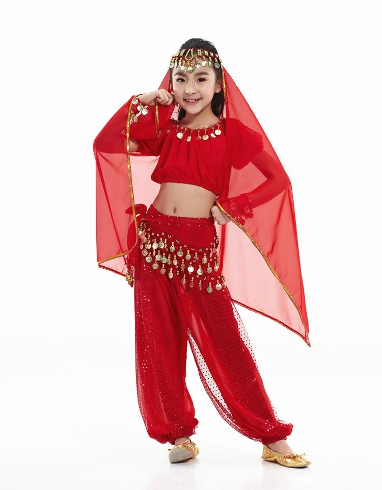 Conjunto de disfraces de danza del vientre para niños con accesorios de...