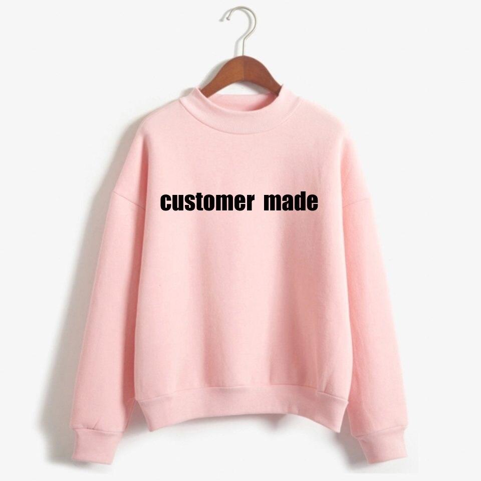 Женский свитер с логотипом на заказ, индивидуальная хлопковая Футболка с буквенным принтом и рукавами на заказ, подарок для подростков
