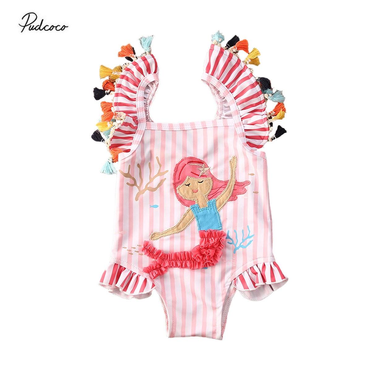 Bonito traje de baño 3D de sirena para niñas. Traje de baño de una pieza. Bonito traje de baño para playa.