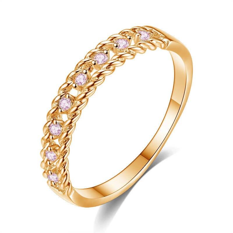 Anillo de circón, anillo de compromiso de Pareja a la moda, accesorios de joyería de fiesta Glamour, anillo de giro de Color dorado y plateado, regalo de aniversario