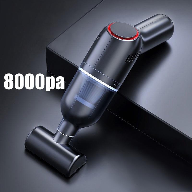 Беспроводной автомобильный пылесос 8000 па, беспроводной ручной автомобильный пылесос для дома и автомобиля, мини-пылесос двойного использо...
